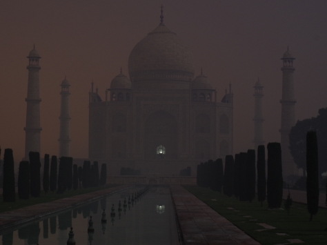 Taj Mahal in moonlight
