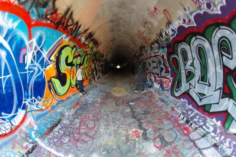 Wild life Corridor, Water duct underneath freeway 118, Simi Valley
